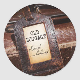 """The """"Old Luggage"""" Cover Design. Round Sticker"""