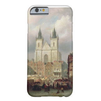 The Old Market Place at Prague, 1881 (oil on canva Barely There iPhone 6 Case
