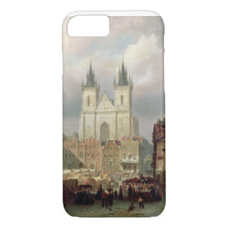 The Old Market Place at Prague, 1881 (oil on canva iPhone 7 Case