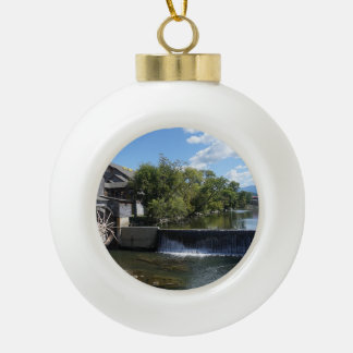 The Old Mill Ceramic Ball Christmas Ornament