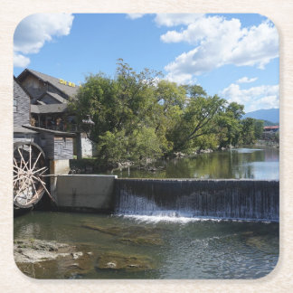 The Old Mill Square Paper Coaster