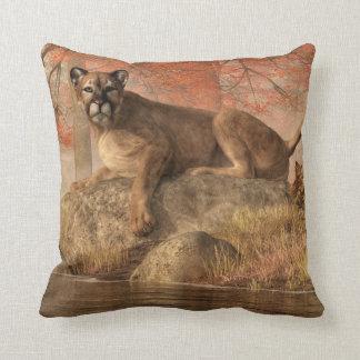 The Old Mountain Lion Throw Pillow