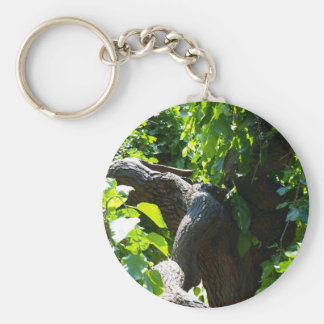 The old mulberry tree basic round button keychain