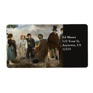 The Old Musician by Edouard Manet Shipping Label