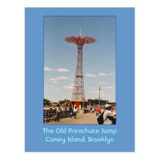 The Old Parachute Jump (Coney Island, NY) postcard
