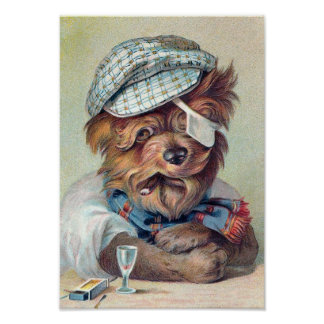 """The Old Rascal"" Vintage Dog Poster"