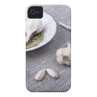 The old saucer, garlic and spices iPhone 4 Case-Mate cases