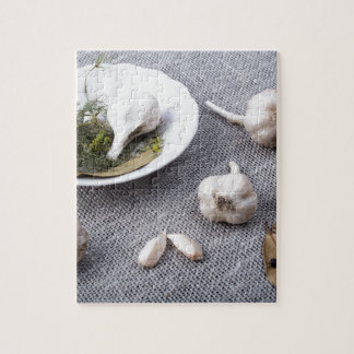 The old saucer, garlic and spices jigsaw puzzle