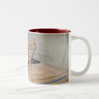 The Old Spinning Wheel Two-Tone Coffee Mug