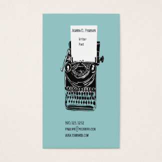 The Old Typewriter  Writer  Editor Publishing Business Card