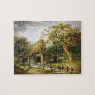 The Old Water Mill, 1790 (oil on canvas) Jigsaw Puzzle