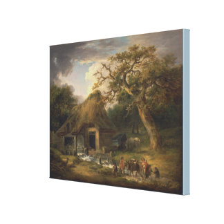 The Old Water Mill by George Morland Canvas Print