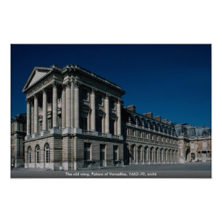 The old wing, Palace of Versailles, 1662-70, archi Print