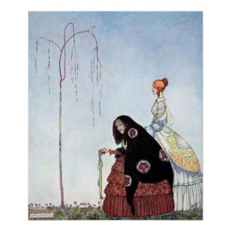 The Old Woman by Kay Nielsen Poster