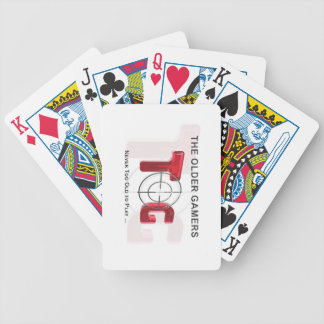 The Older Gamers Poker Playing Cards - Red Logo