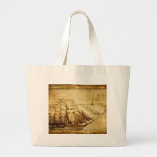 The Oldest World Map Ship Jumbo Tote Bag