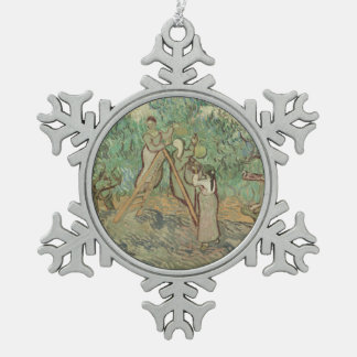 The Olive Orchard Snowflake Pewter Christmas Ornament