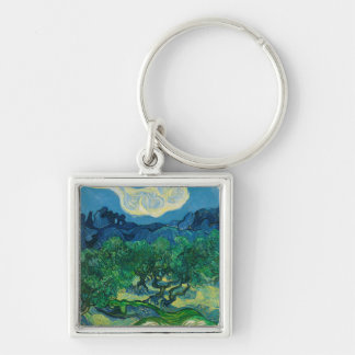 The Olive Trees with Alpilles Vincent van Gogh Keychain