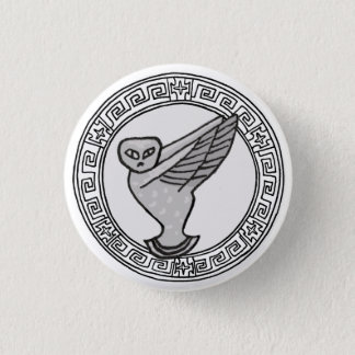 The Olympians! Athene / Minerva symbol badge 1 Inch Round Button