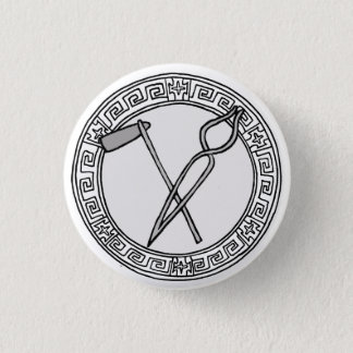 The Olympians! Hephaistos / Vulcan symbol badge 1 Inch Round Button