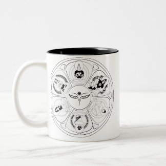 The OMCru hot beverage holder. Two-Tone Coffee Mug