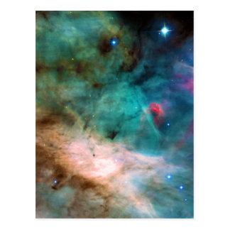 The Omega Nebula Messier 17 NGC 6618 M17 Postcard