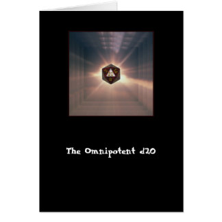 The Omnipotent d20 - Card