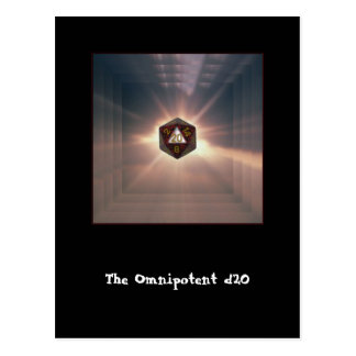 The Omnipotent d20 - Postcard
