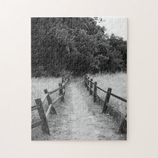 The One Less Traveled Black and White Puzzle