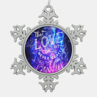 The Ones that Love Us Amethyst Dreams Pewter Snowflake Ornament