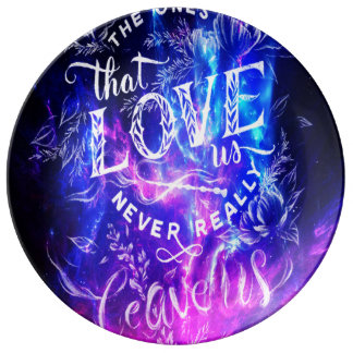 The Ones that Love Us Amethyst Dreams Porcelain Plate