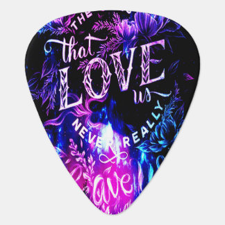 The Ones that Love Us in Amethyst Winter Dreams Guitar Pick