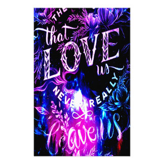 The Ones that Love Us in Amethyst Winter Sky Stationery