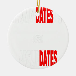 The only dates i get are updates ceramic ornament
