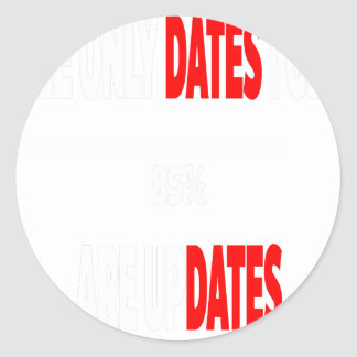 The only dates i get are updates classic round sticker