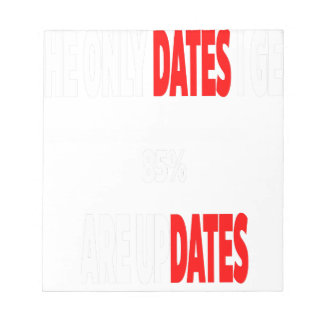 The only dates i get are updates notepads
