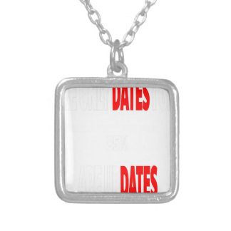 The only dates i get are updates silver plated necklace