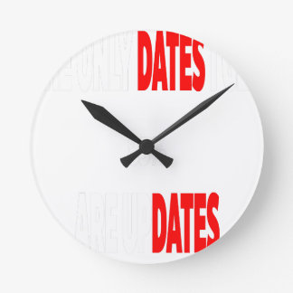 The only dates i get are updates wallclocks