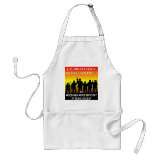 The Only Defense Against Violence? Good Men Standard Apron