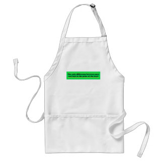 The only difference between men and boys standard apron