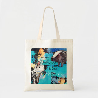 The only difference is your perspective tote bag