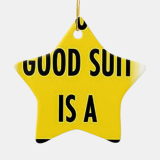 The only good suit is a wet suit ceramic ornament
