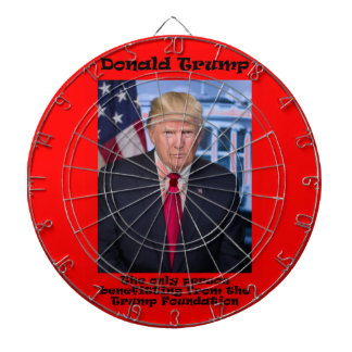 The Only Person Benefitting - Anti Trump Dartboard