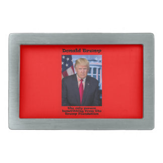 The Only Person Benefitting - Anti Trump Rectangular Belt Buckle