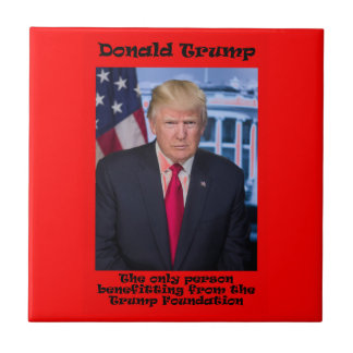 The Only Person Benefitting - Anti Trump Tile