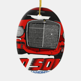 The only Red Sow Ceramic Oval Ornament