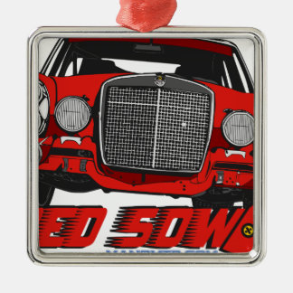 The only Red Sow Metal Ornament