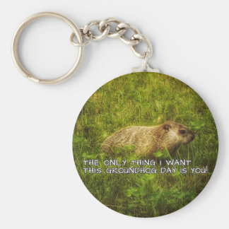 The only thing I want this Groundhog Day keychain