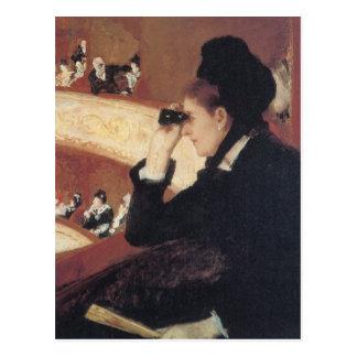 The Opera by Mary Cassatt, Vintage Impressionism Postcard