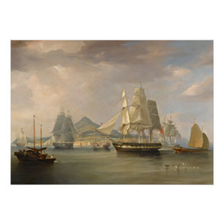 """The Opium Ships by WJ Huggins poster 20""""x28"""""""